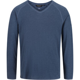 Regatta Kiro II Longsleeve Shirt Heren, dark denim